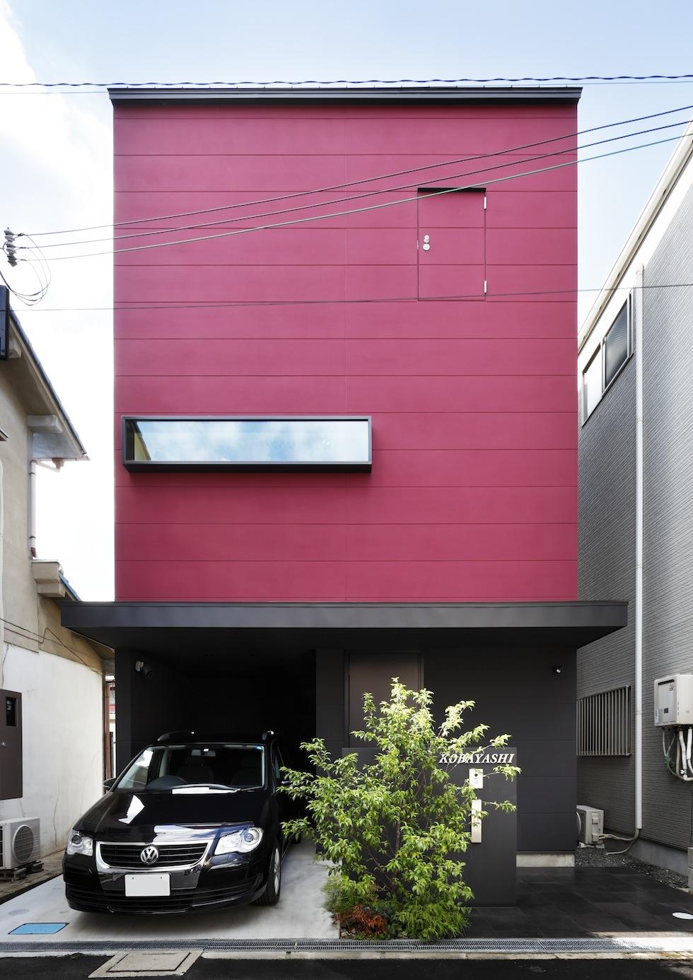 大阪,四條畷,建築家,設計事務所,住宅設計,高級注文住宅,木造3階建てデザイン,螺旋階段,外観デザイン