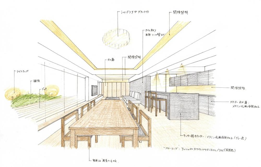 大阪,建築家,設計事務所,住宅設計,高級注文住宅,上質な住まい,リゾートマンションリノベーション,イメージパース