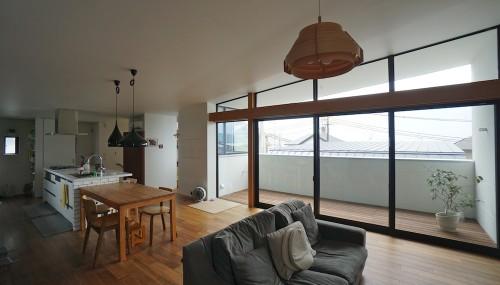 宝塚の家,竣工2年,点検,眺望,太陽を取り込む家,山手台,リビング窓