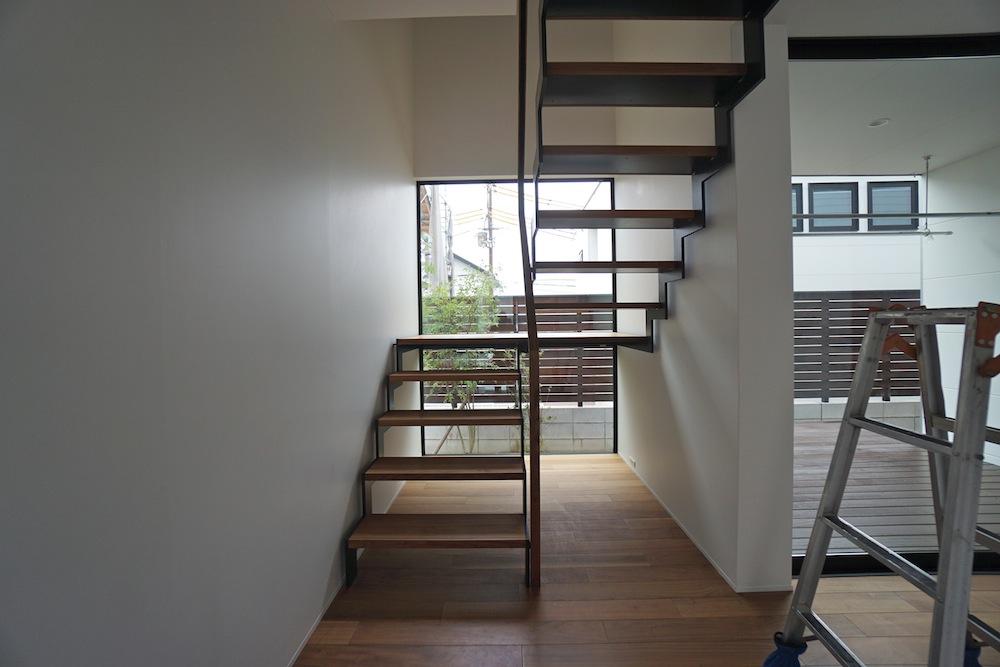 宝塚の家,竣工2年,点検,眺望,太陽を取り込む家,山手台,階段デザイン