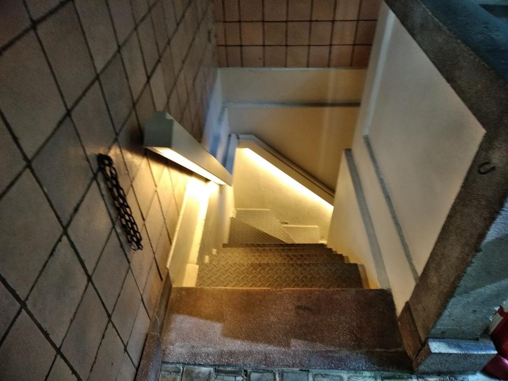 階段照明,船場ビルディング,生きた建築ミュージアム,大阪,建築家,神戸,京都,関西,住宅設計事務所