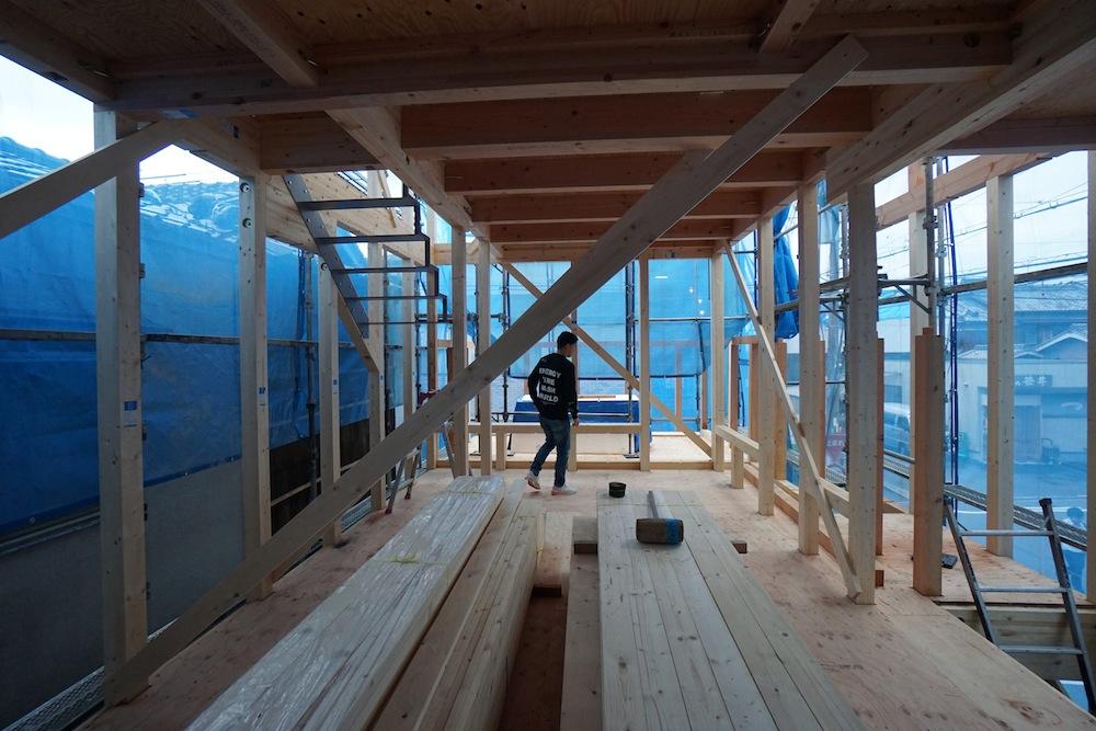 3階建てデザイン,ヘアサロン併用住宅,店舗付き住宅,建築家,大阪,神戸,京都,高級住宅設計,リビング