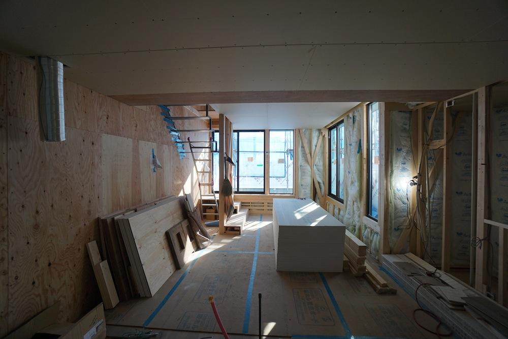 大阪,高槻,建築家,設計事務所,高級注文住宅,店舗付き住宅,へアサロン,美容室,3階建てデザイン,間接照明