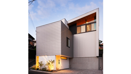 スキップフロアの家,眺望のある家,建築家,設計事務所,大阪,吹田,北摂,豊中,外観