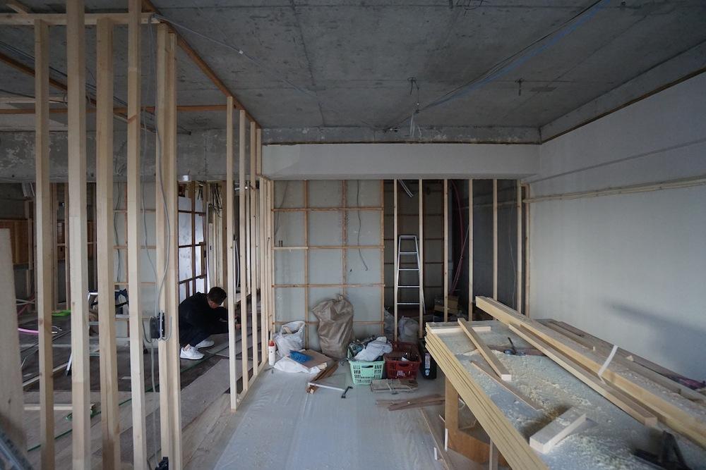 マンションリノベーション,豊中,建築家,高級注文住宅設計,リフォーム,リゾートマンション,グランピング,間仕切り壁