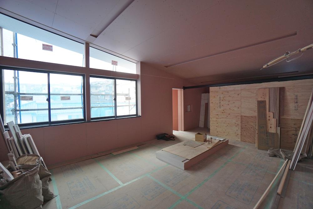 大阪,神戸,京都,設計事務所,建築家,高級注文住宅設計,スキップフロア,階段デザイン,吹田,リビング