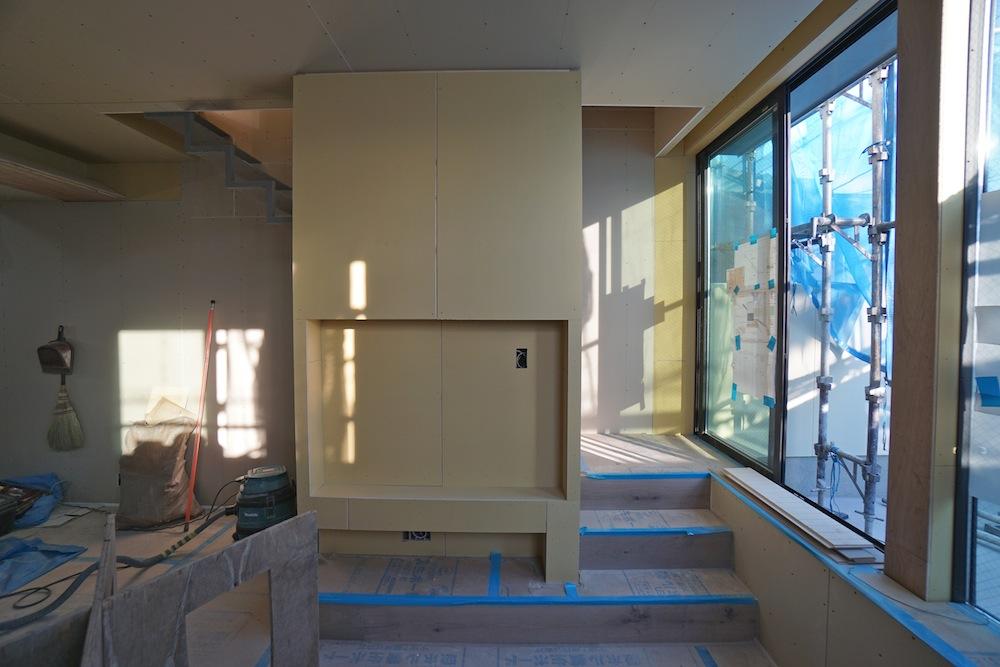 大阪,高槻,建築家,設計事務所,高級注文住宅,店舗付き住宅,へアサロン,美容室,3階建てデザイン,階段デザイン