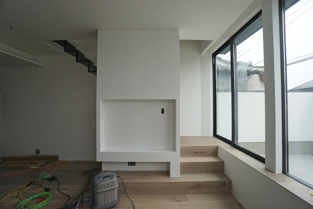 建築家,高槻,高級注文住宅設計,大阪,京都,神戸,3階建てデザイン,テレビデザイン