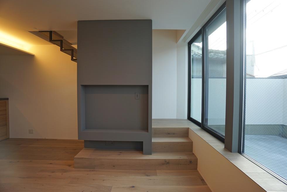 テレビボードデザイン,3階建てデザイン,建築家,大阪,神戸,京都,高槻,高級注文住宅設計