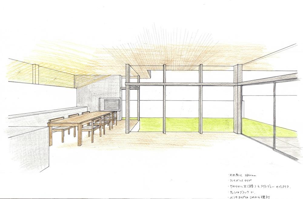リビングパース,インテリアイメージの検討,大阪,建築家,高級注文住宅設計