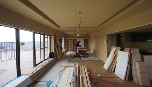 建築家,マンションリノベーション,大阪,神戸,豊中,少路,高級注文住宅設計,リゾート,眺望,リビング