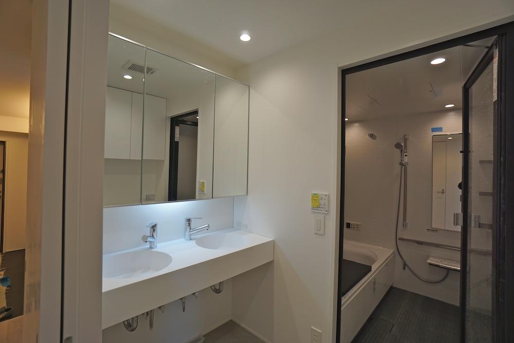 建築家,マンションリノベーション,高級注文住宅,住宅設計,豊中,大阪,眺望,洗面室