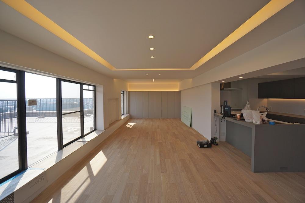 建築家,マンションリノベーション,高級注文住宅,住宅設計,豊中,大阪,眺望,間接照明