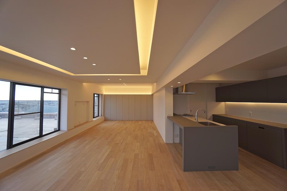建築家,大阪,神戸,高級注文住宅,設計事務所,リゾート,間接照明,リビング,眺望