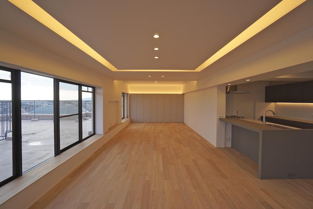 建築家,大阪,神戸,高級注文住宅,設計事務所,リゾート,間接照明,リビング