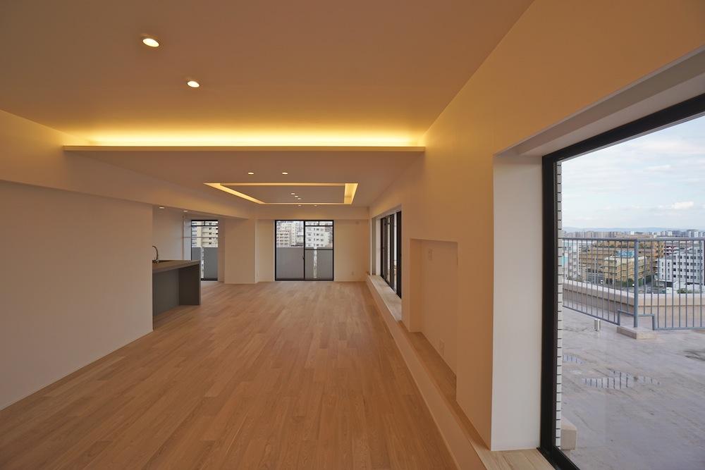 建築家,大阪,神戸,高級注文住宅,設計事務所,リゾート,間接照明,リビング2
