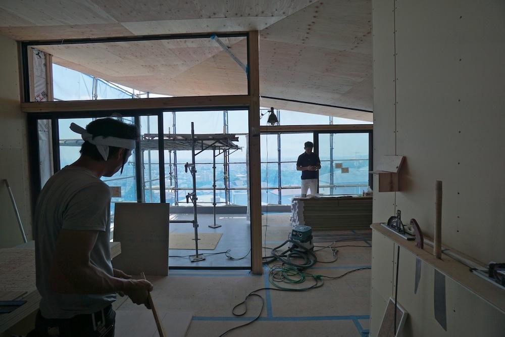 建築家,宝塚,雲雀丘,高級注文住宅設計,デザイン,大阪,神戸,眺望の家,リビングダイニング