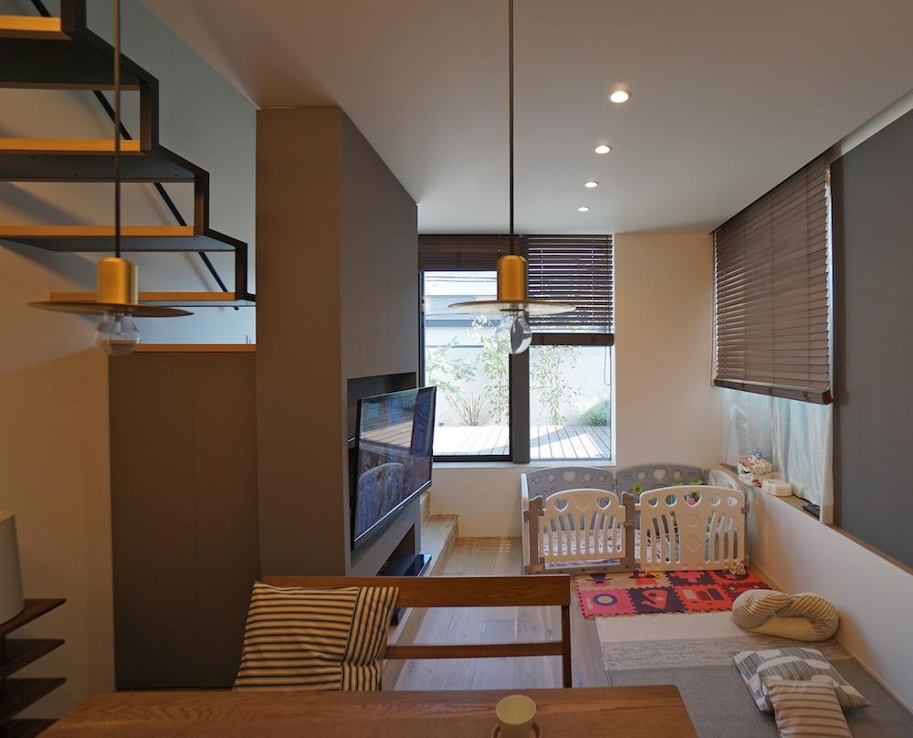 建築家,高級注文住宅設計,高槻,へアサロン併用住宅,大阪,神戸,店舗付き住宅設計