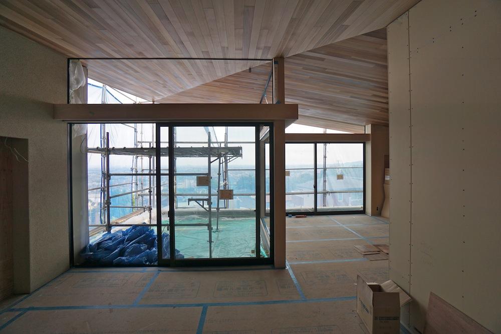 建築家,設計事務所,キッチン,クリナップ,眺望の家,スカイテラス,スカイリビング