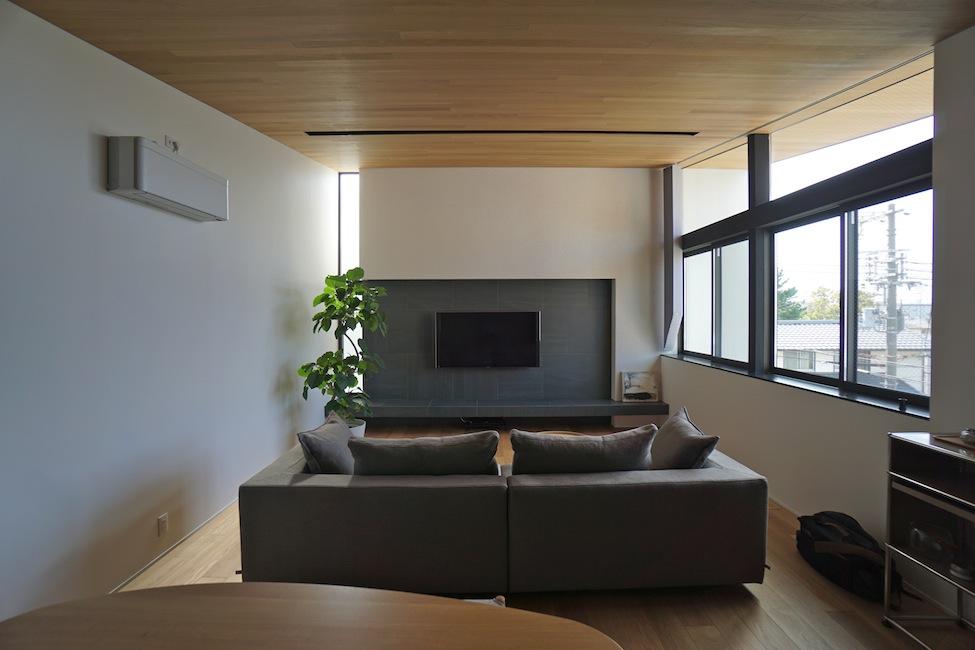 ファサード建築家大阪高級注文住宅設計吹田藤が丘,リビング 2