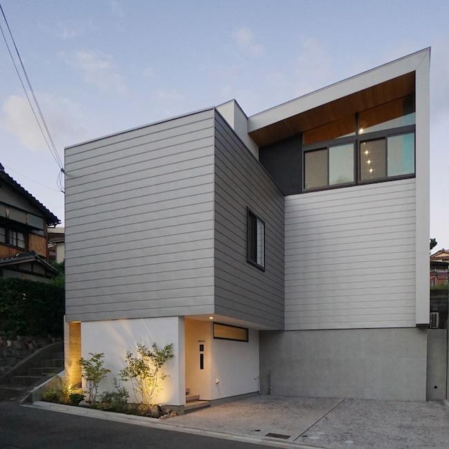 ファサード建築家大阪高級注文住宅設計吹田藤が丘 2
