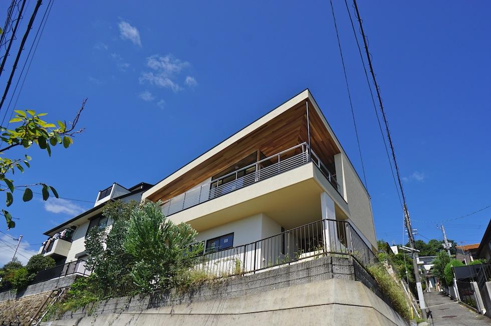 建築家,設計事務所,大阪,神戸,宝塚,眺望の家,スカイテラス,スカイリビング,おおきなテラス