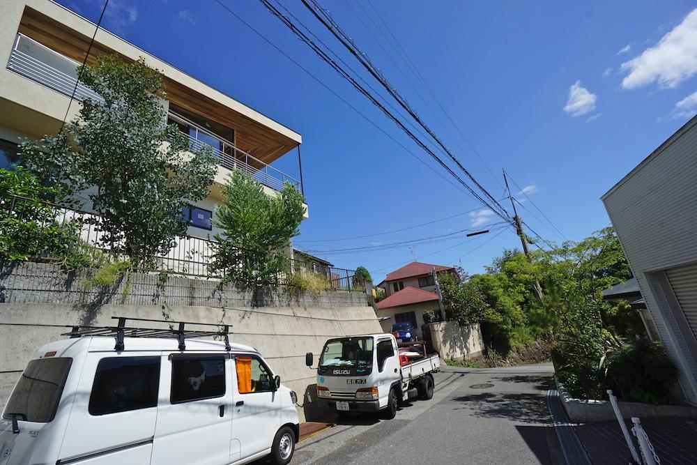 建築家,設計事務所,大阪,神戸,宝塚,眺望の家,スカイテラス,スカイリビング,青い空