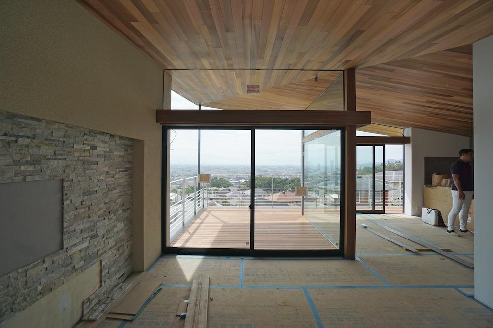 眺望のある家,眺望,眺めの良い家,建築家,大阪,神戸,高級注文住宅設計,テラス,リビング