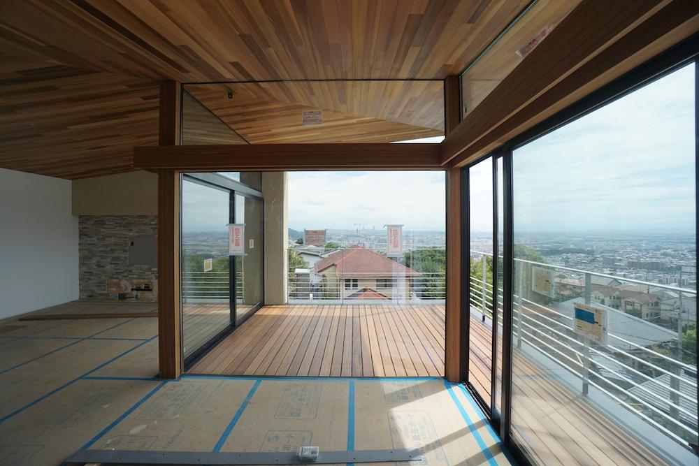 眺望のある家,眺望,眺めの良い家,建築家,大阪,神戸,高級注文住宅設計,テラス
