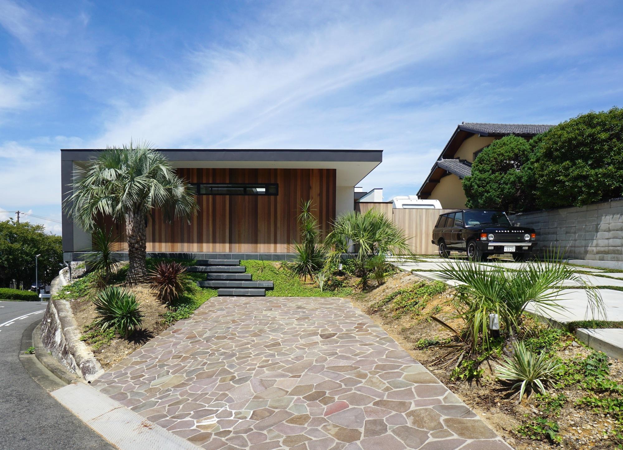 竣工写真,大阪府,和泉市,建築家,プールハウス,高級注文住宅設計