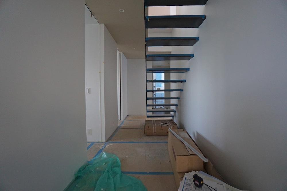 雲雀丘,宝塚,建築家,高級注文住宅設計,眺望の家,スカイビュー,スチール階段