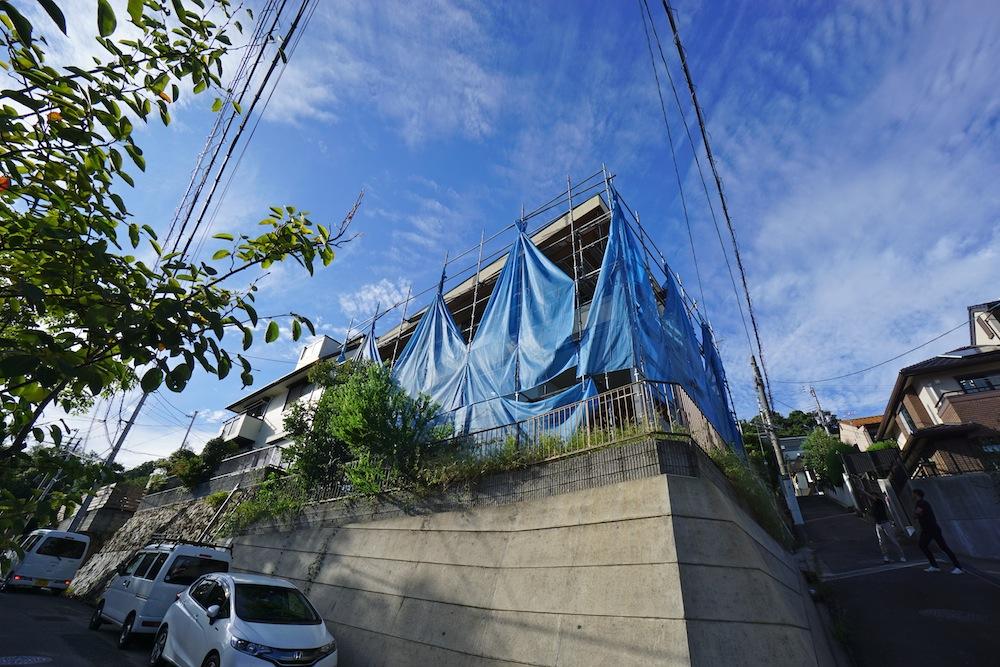 雲雀丘,宝塚,建築家,高級注文住宅設計,眺望の家,スカイビュー,外観