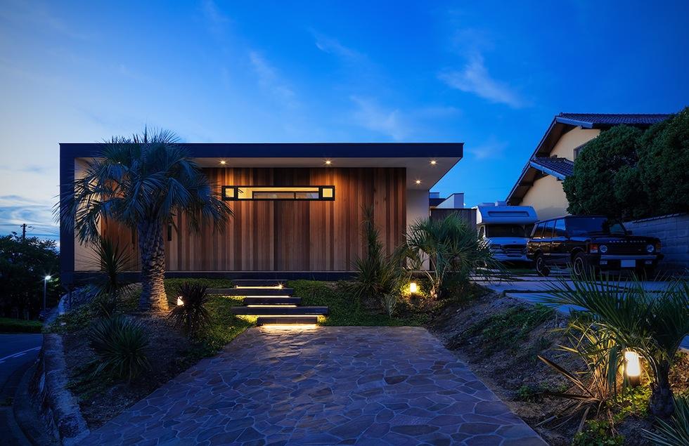 プールハウス,建築家,大阪,神戸,京都,高級注文住宅設計,ラグジュアリー,コートハウス,外観夜景