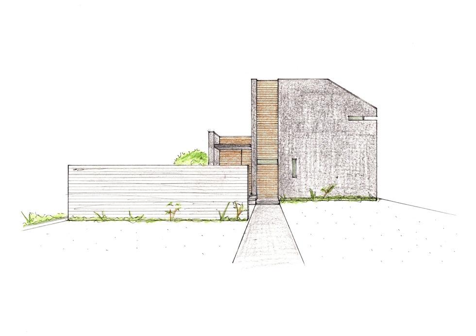外観の検討,大阪府豊中市,コートハウス,中庭の家