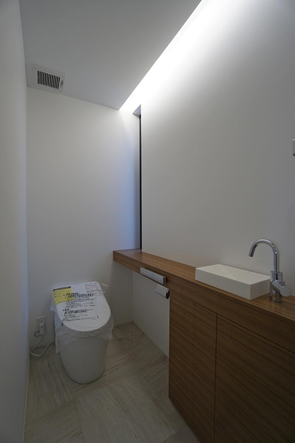 建築家,大阪,宝塚,高級注文住宅設計,眺望のある家,トイレ
