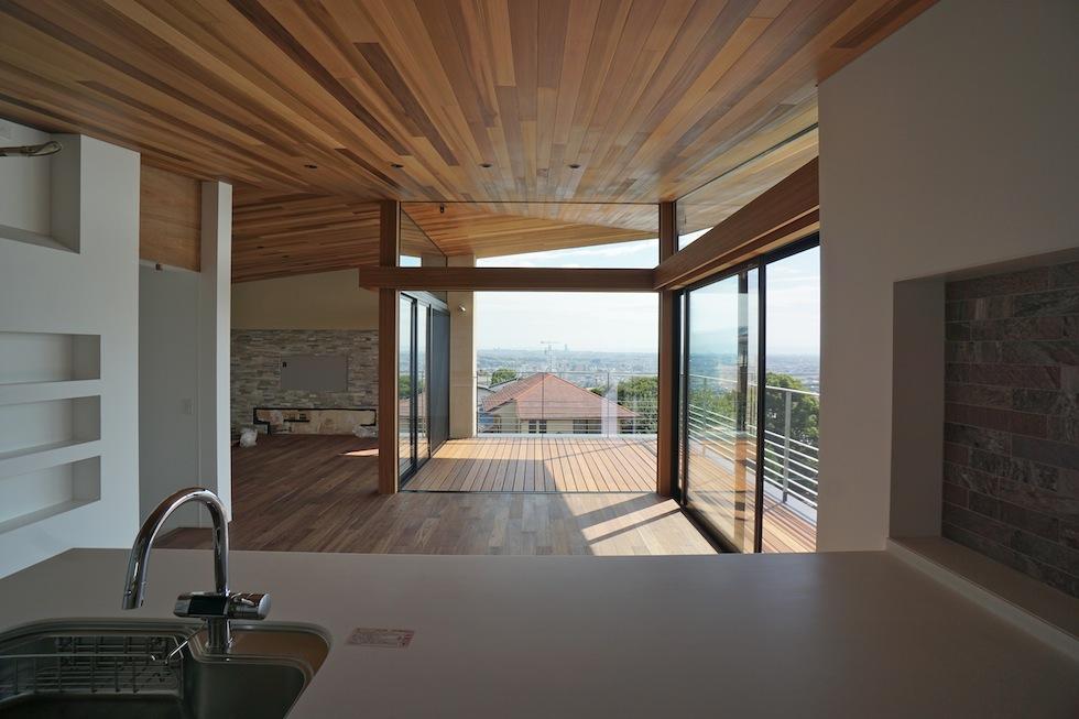 建築家,大阪,設計事務所,高級注文住宅設計,宝塚,眺望の家,キッチンからの眺め