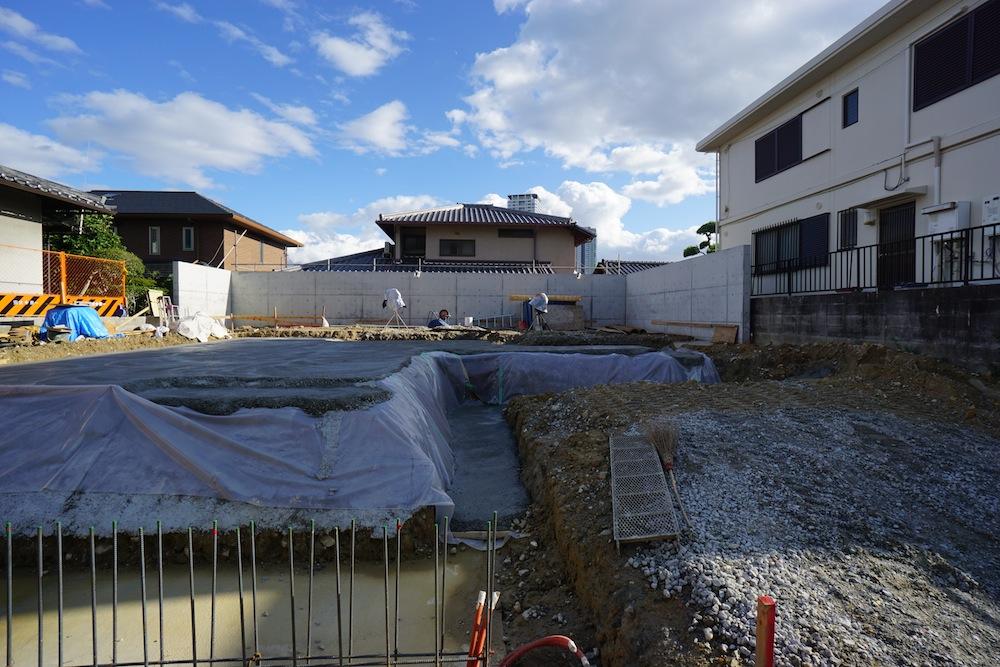 擁壁,コンクリート,吹田,豊中,建築家,大阪,神戸,高級注文住宅設計,配筋