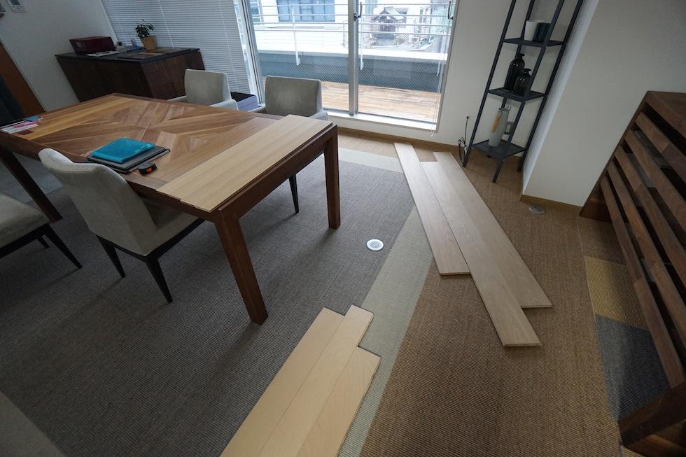 素材の確認,大阪,神戸,設計事務所,北摂,建築家,高級注文住宅設計,フローリング