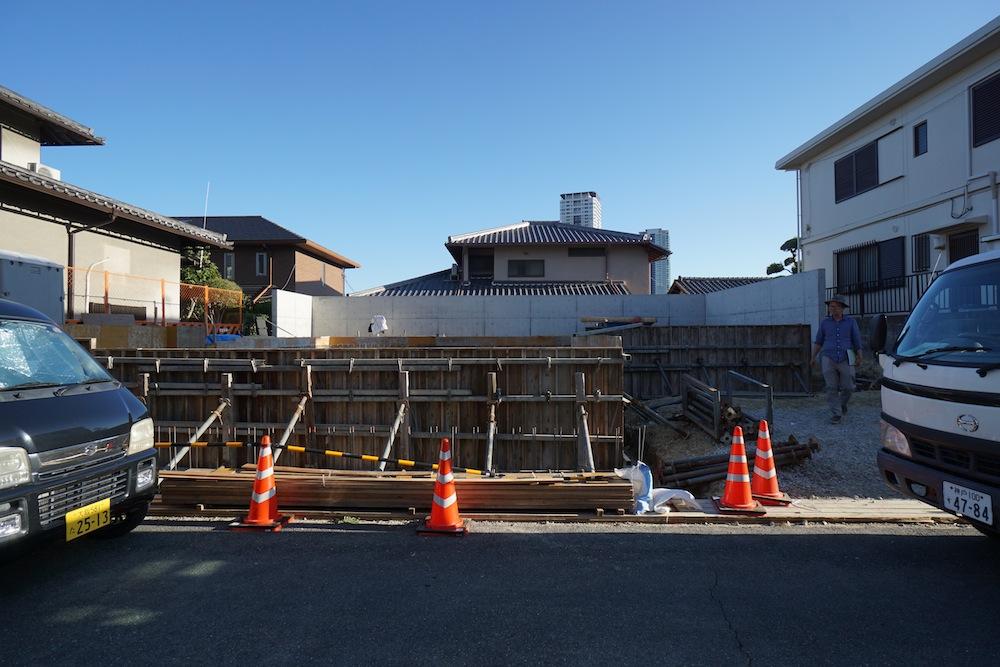 配筋検査,建築家,大阪,コートハウス,中庭の家,サッカーグラウンド,高級注文住宅設計,豊中,ファサード