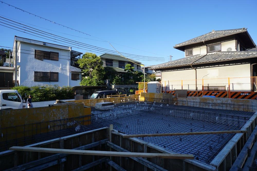 配筋検査,建築家,大阪,コートハウス,中庭の家,サッカーグラウンド,高級注文住宅設計,豊中