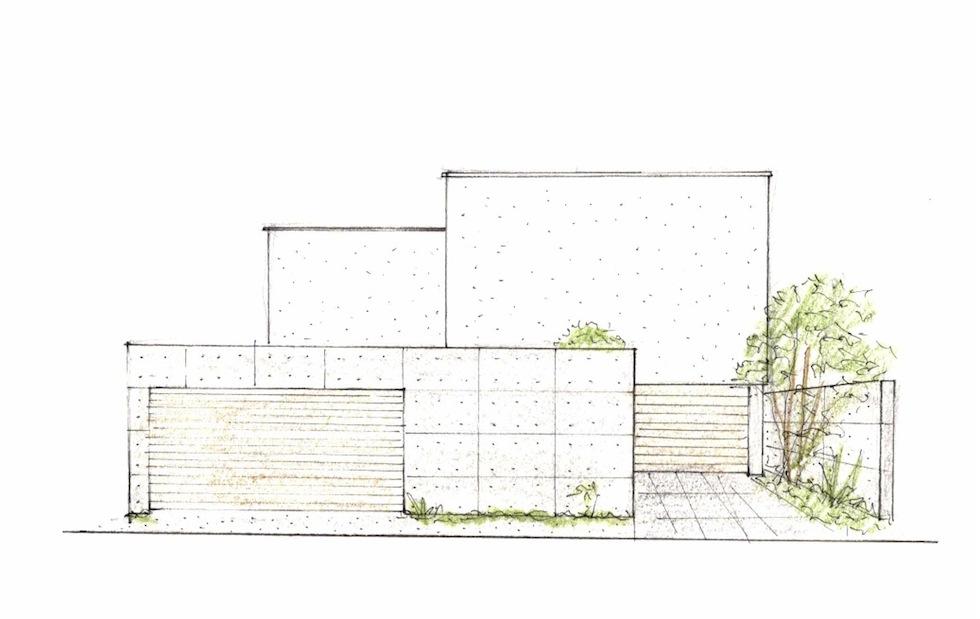 建築家,設計事務所,豊中,吹田,高級注文住宅設計,コートハウス,ガレージハウス,眺望の家,ラグジュアリー,外観,コンクリート