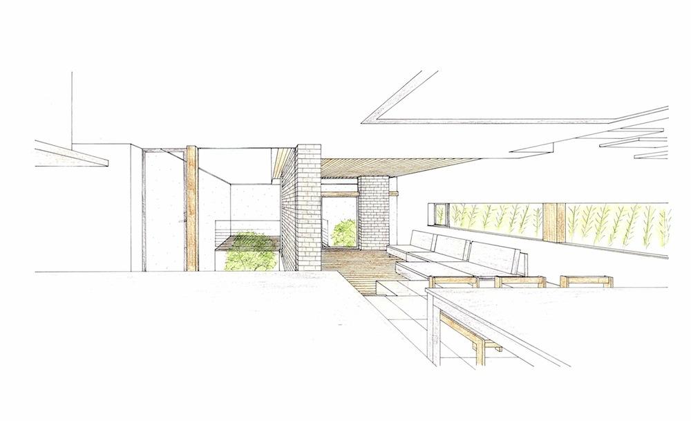 建築家,高級注文住宅設計,大阪,神戸,豊中,コートハウス,中庭の家,イメージパース