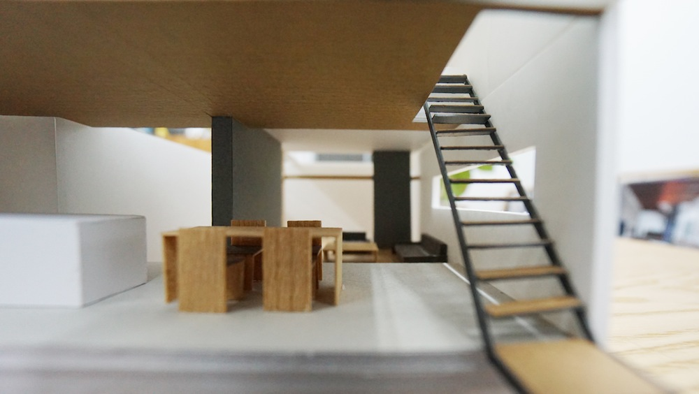 建築家,大阪,神戸,京都,高級注文住宅設計,コンクリート,北摂,豊中,吹田,コートハウス,中庭の家,2階リビング