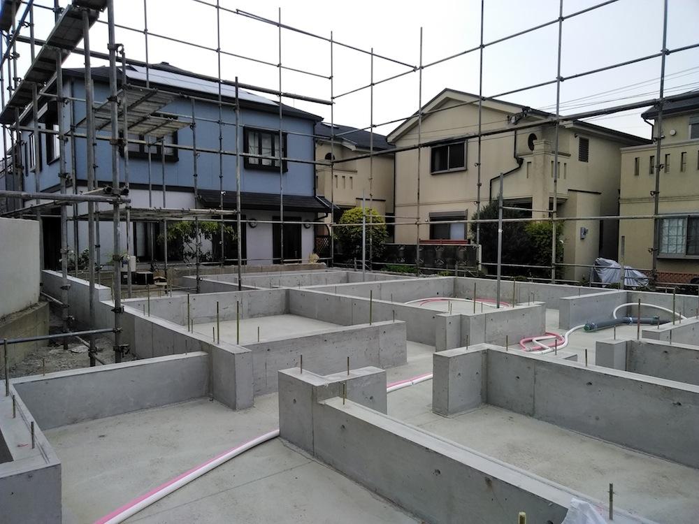 建築家,大阪,神戸,京都,高級注文住宅設計,豊中,北摂,コンクリート打設