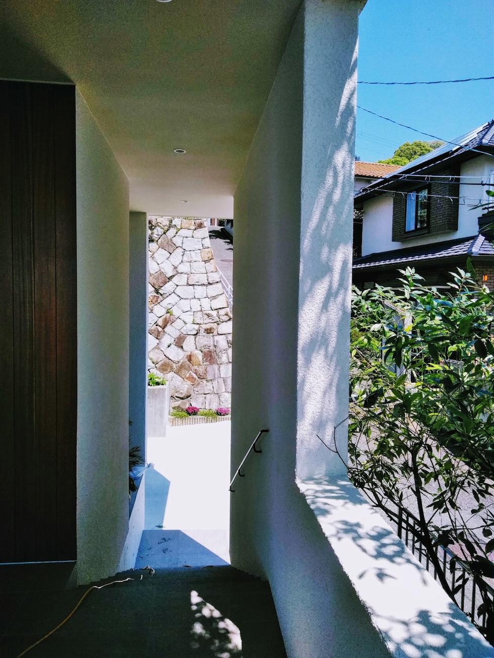 建築家,設計事務所,高級注文住宅設計,大阪,神戸,宝塚,雲雀丘,眺望の家,ビューハウス,スカイテラス,エントランステラス
