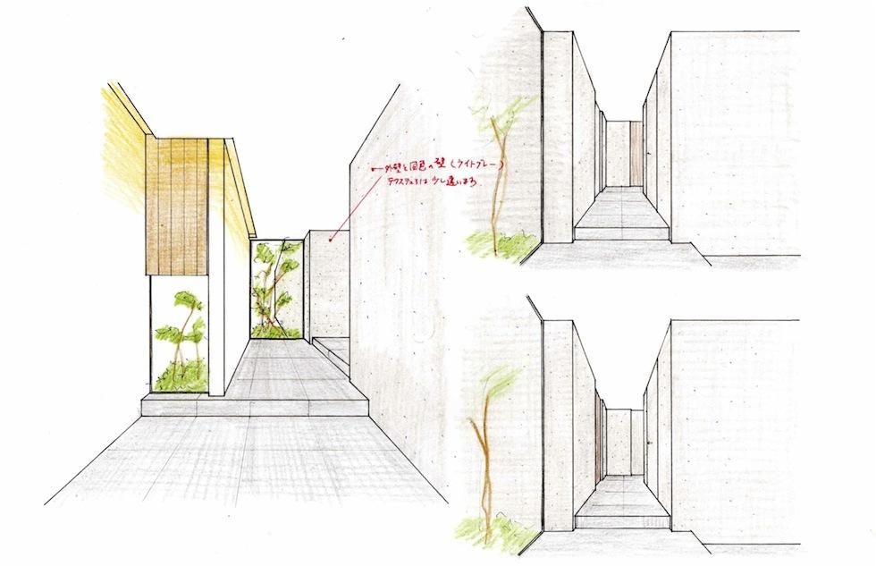 エントランスイメージの検討,最終確認,高級注文住宅設計,大阪,神戸