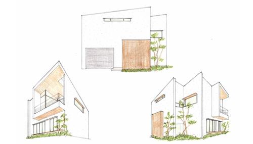 外観イメージ,再検討,建築家,大阪,箕面,北摂,高級注文住宅設計,近藤