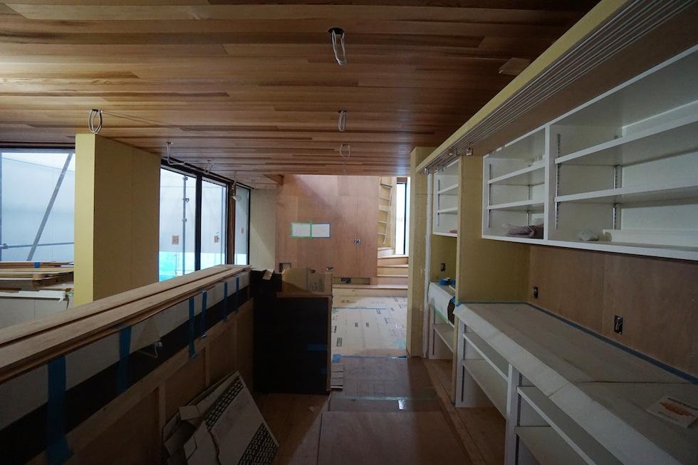 建築家,大阪,北摂,豊中,吹抜,光,コートハウス,中庭,キッチン2