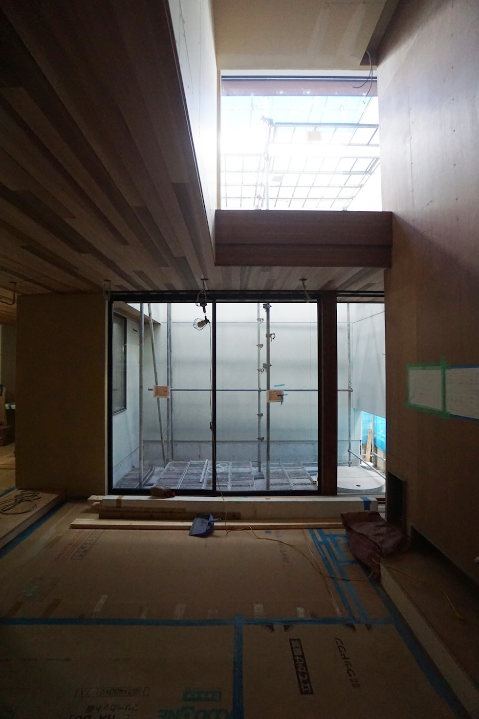 建築家,大阪,北摂,豊中,吹抜,光,コートハウス,中庭,