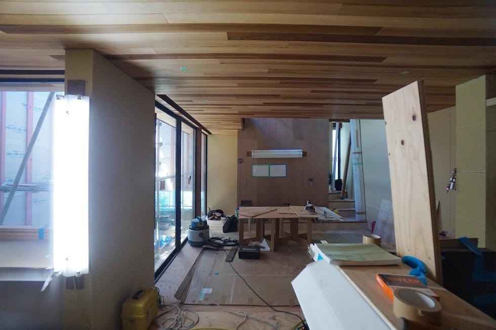 建築家,大阪,豊中,北摂,吹田,高級注文住宅設計,コートハウス,中庭の家,リビング